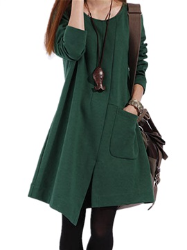Chic Leisure Long Sleeve Cotton Casual Dress