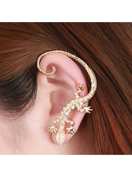 Golden House Lizard Imitation Diamond Women's Ear Cuff
