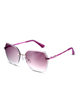 Graced HD Resin Lens Women's Rimless Sunglasses
