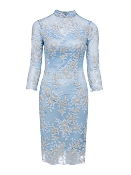 Nice High Neck Zipper-Up Appliques Lace Evening Dress & Featured Sales 2012