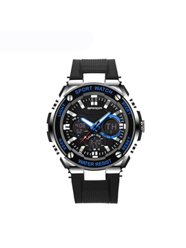 Sports Digital Plastic LED Luminous Display Multifunctional Men's Watches