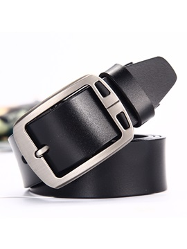 Hot Sale Business Pin Buckle Leather Men's Belts