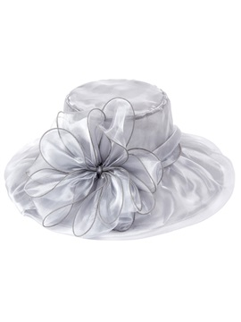 Pure Color Floral Shape Mesh Ladylike Sunscreen Hat