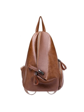 Retro Vintage Plain Zipper Backpack