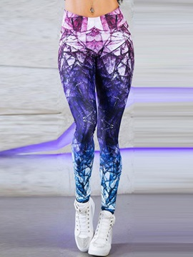 Diamond Pattern High-Waist Full Length Yoga Pants