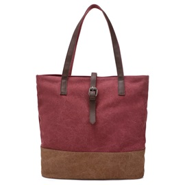 Bucket Decorated Women's Canvas Bag