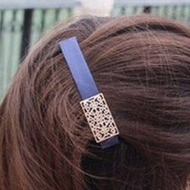 Plated Metallic Cutout Hairpin