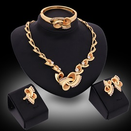 European Style Diamond Women Jewelry Set