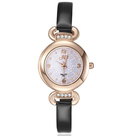 Fashion PU Band Women Alloy Watch