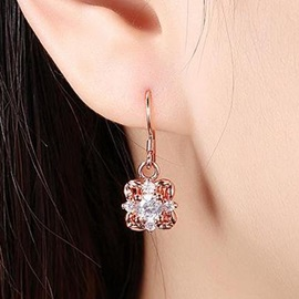 Zircon Rose Gold Earrings