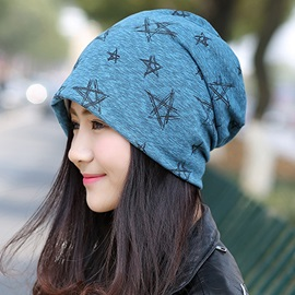 Five-Pointed Star Printing Women's Hat