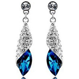 Shining Crystal Pendant Earrings