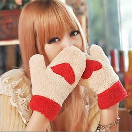 Warm Fluffy Love Women's Gloves