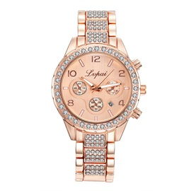 Rose Gold Diamante Analog Display Women's Watch