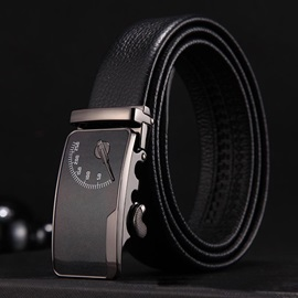 Scale Pattern Automatic Buckle Business Men's Belts