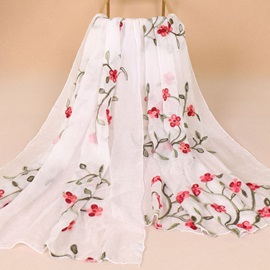 Floral Print Chiffon Lighter Over 175CM Pre-Fall Scarf