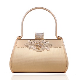 Graceful Diamond Evening Bag with Rhinestones