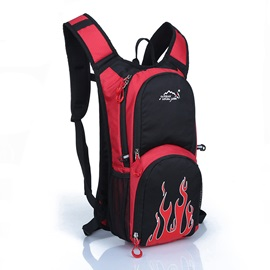 Fire Pattern Large Space Cycling Backpack