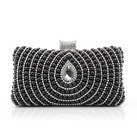 Noble Black Pearl Decor Women's Clutches