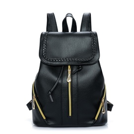 Casual PU Leather Women Backpack