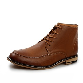 Thread Pointed Toe Men's Boots
