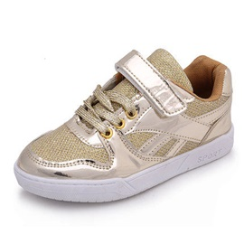 Chic Velcro Lace-Up Kid's Sneakers