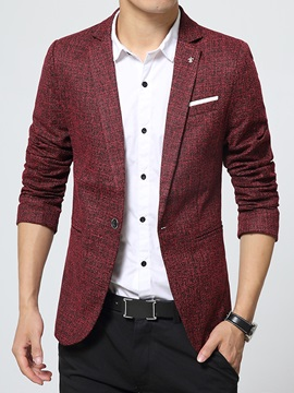 Cotton Blends Men's One-Button Blazer