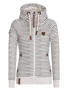 Stylish Stripe Printed Slim Hoodie