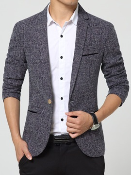 Men's Polyester Fabric Vogue One Button Blazers