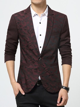 Slim Fit One Button Color Block Men's Blazer