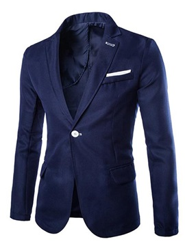 Slim Fit Color Block One Button Men's Blazer