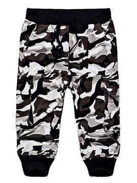 Camouflage Hooded Zipper Men's Sports Outfit