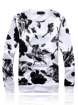 Floral Printed Men's Sports Outfit