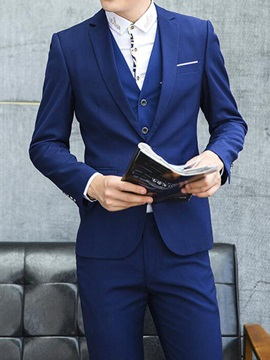 Solid Color Men's Two-Piece Three Pieces Suits