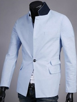 Solid Color Men's Blazer
