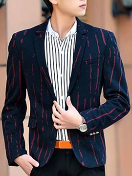 Vogue Stripe Slim Fit Men's Single-Button Blazer