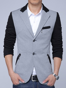 Color Block Multi-Zip Vogue Slim Men's Blazer