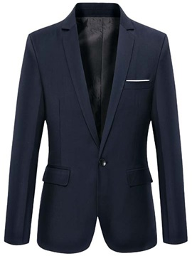 Plain Vogue One Button Slim Fit Men's Blazer