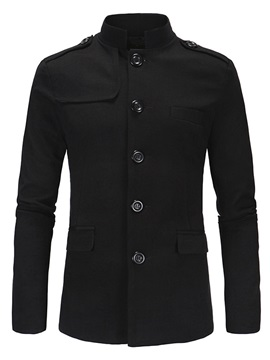 Single-Breasted Stand Collar Men's Causal Blazer