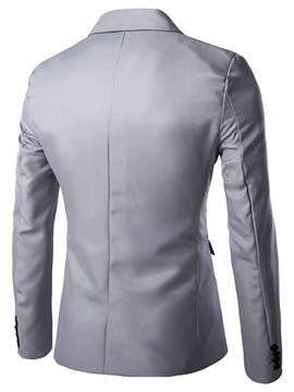 One-Button Irregular Men's Lapel Blazer