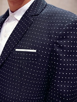 Double-Button Polka Dots Men's Casual Blazer