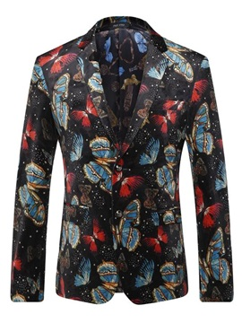 Butterfly Slim Double Button Men's Blazer