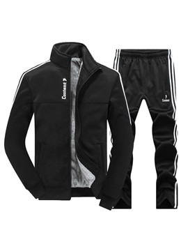 Tidebuy Stand Collar Long Pant Men's Tracksuit Outfits