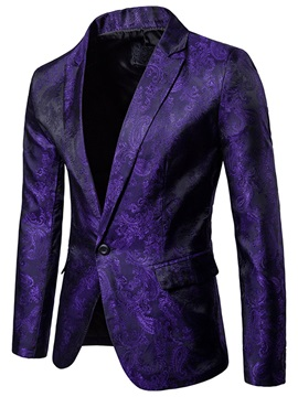 Tidebuy Notched Lapel Print Fit Men's Blazer