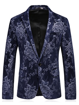 Tidebuy Floral Print Stylish Men's Slim Fit Balzer