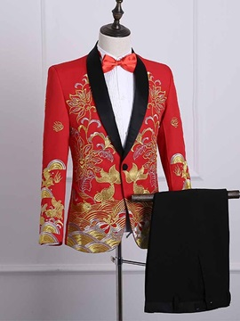 Tidebuy Chinese Style Printed Men's Party Ball Suit