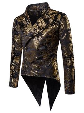 Floral Double-Breasted Swallowtail Men's Costume Blazer