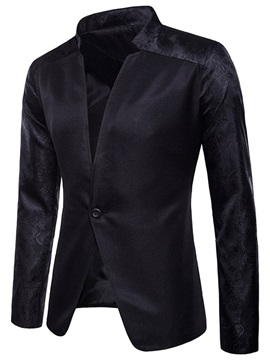 Stand Collar Color Block Patchwork Men's Fashion Blazer