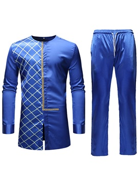 Dashiki African Style Shirt Pants Men's Suit