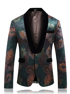 One Button Floral Men